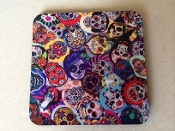 Sugar Skull Coasters 4 Piece Set