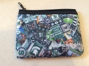 Michigan State Zipper Wallet