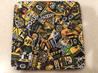 Green Bay Packers Coasters 4 Piece Set