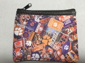 Clemson Tigers Zipper Wallet
