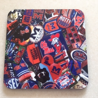 Ole Miss Coaster 4 Piece Set