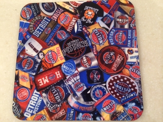 Detroit Pistons Coaster - Browning