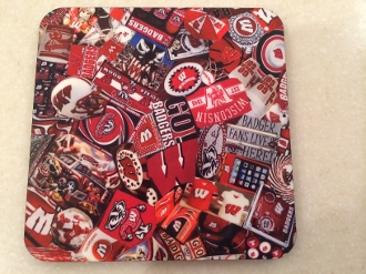 Wisconsin Badgers Coasters 4 Piece Set