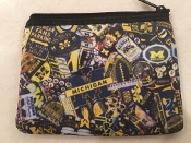University of Michigan Zipper Wallet